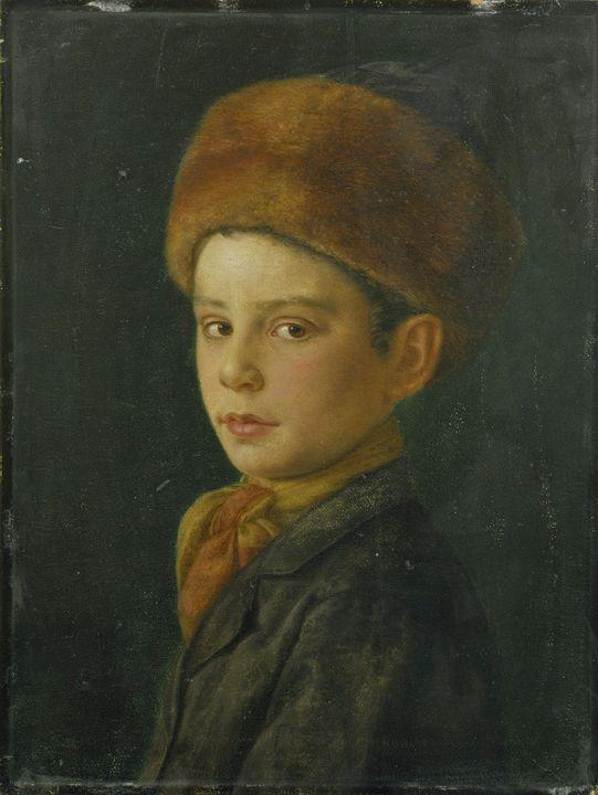 Isidor Kaufmann~Portrait of a Boy - Classical art