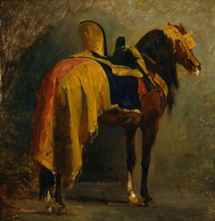 Isidore Pils~Horse caparisoned - Classical art