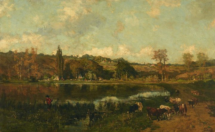 Isidore Verheyden~Landscape with ang - Classical art