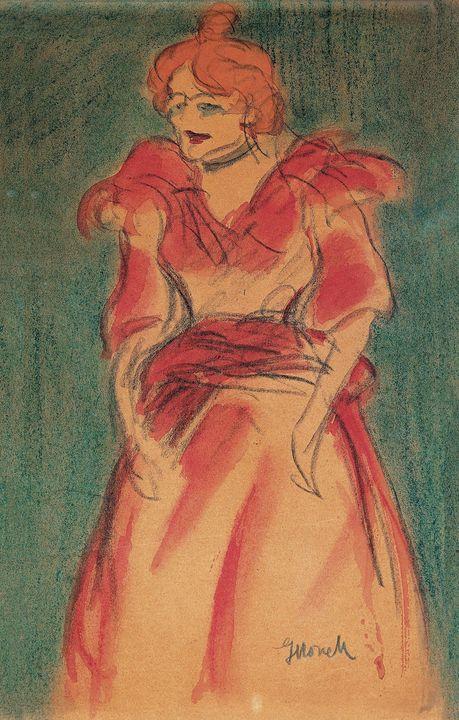 Isidre Nonell~Cabaret Singer - Classical art
