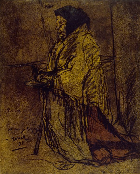 Isidre Nonell~Poor Woman Praying - Classical art