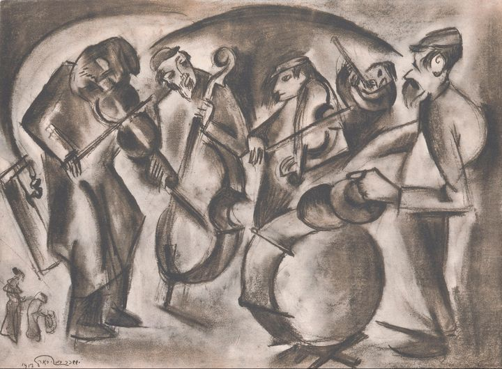 Issachar Ber Ryback~Shtetl, My Destr - Classical art