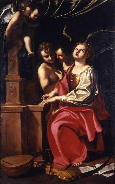 Italian (Emilian) School~Saint Cecil - Classical art