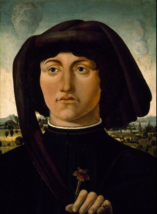 Italian~Portrait of a Young Man with - Classical art