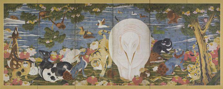 Itō Jakuchū~Animals in the Flower ga - Classical art