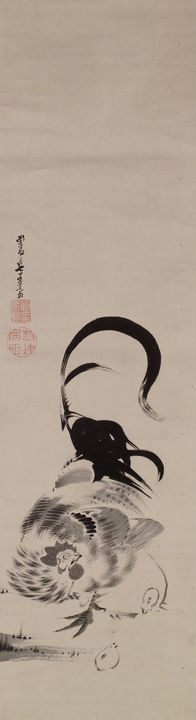 Itō Jakuchū~Chicken - Classical art
