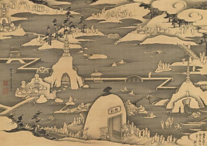 Itō Jakuchū~Five hundred arhats - Classical art