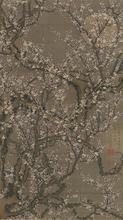 Itō Jakuchū~月下白梅図White Plum Blossoms - Classical art