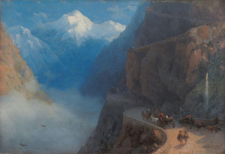 Ivan Aivazovsky~From Mleta to Gudaur - Classical art