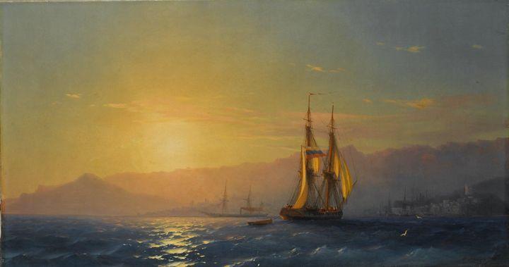Ivan Aivazovsky~Sunset at Sea - Classical art