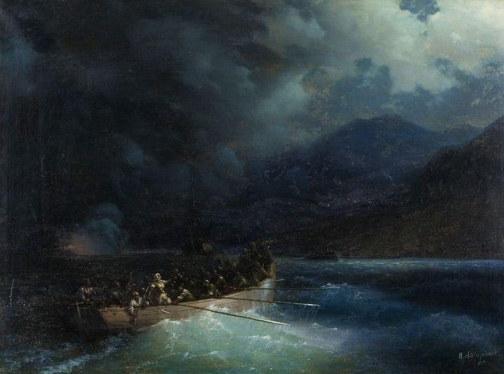 Ivan Aivazovsky~Героиня Боболина с о - Classical art