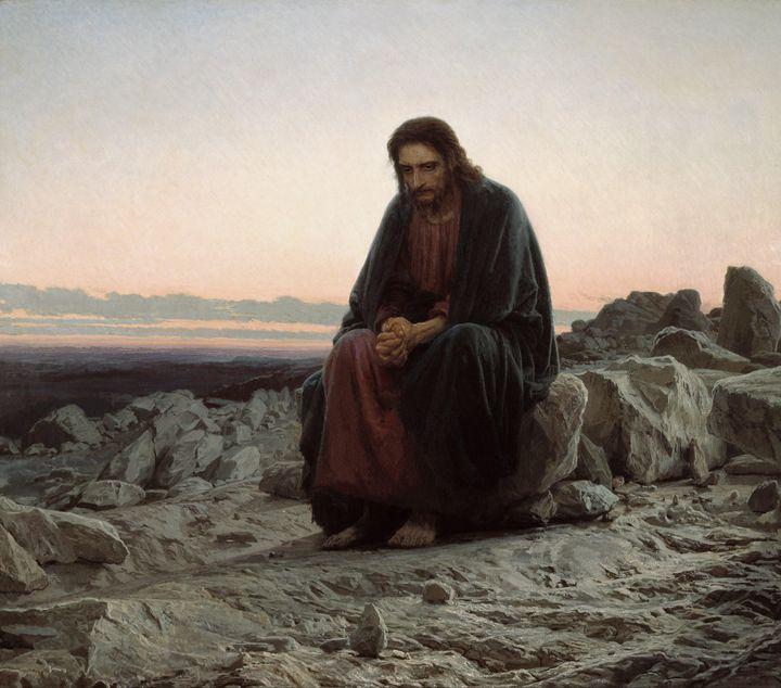 Ivan Kramskoi~Christ in the Wilderne - Classical art