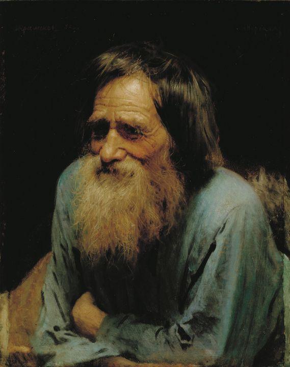 Ivan Kramskoi~Mina Moiseyev - Classical art