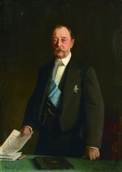 Ivan Kramskoi~Portrait of Count D.A - Classical art