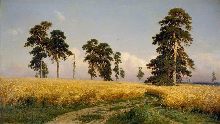 Ivan Shishkin~Rye - Classical art