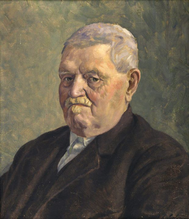 Ivan Žabota~Portrait of J. Schmidt M - Classical art