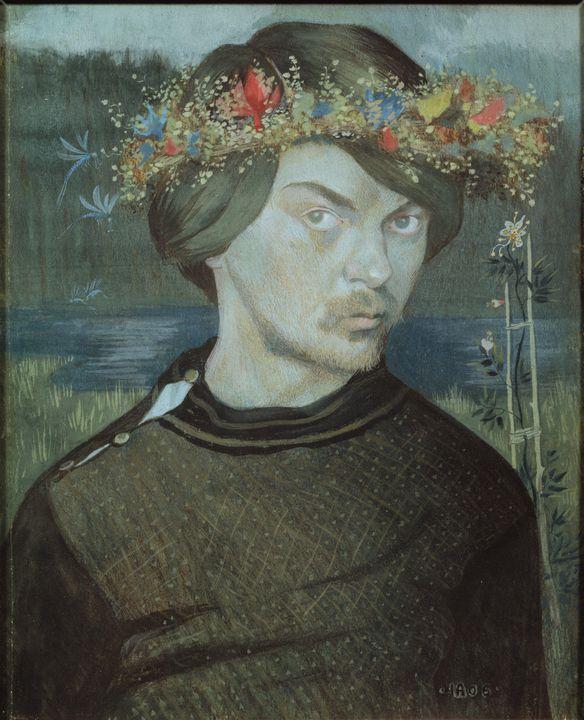 Ivar Arosenius~Selfportrait - Classical art