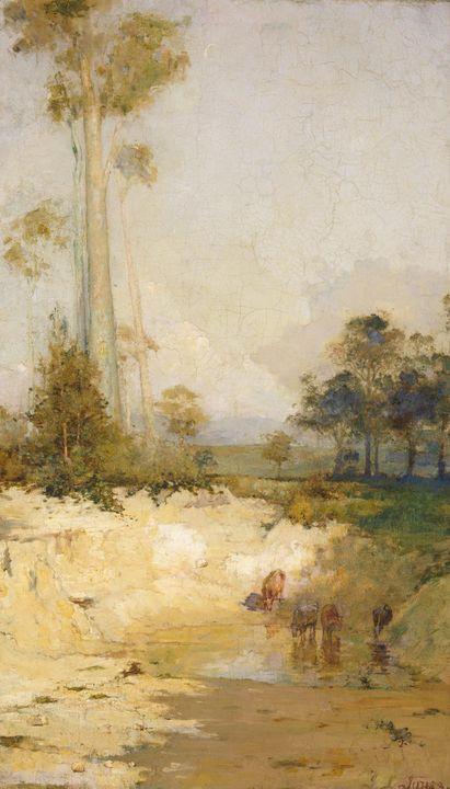 J Llewelyn Jones~The dry season - Classical art