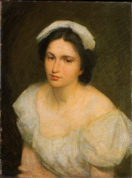 J. Alden Weir~An Alsatian Girl - Classical art