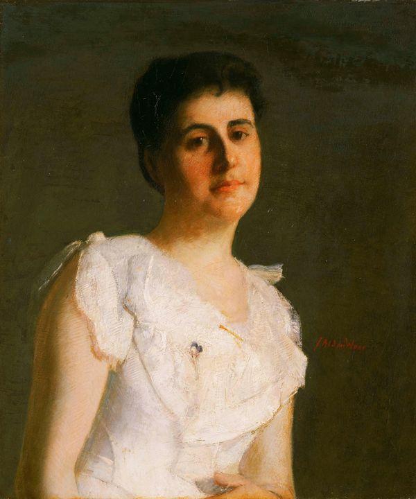 J. Alden Weir~Miss Edith Potter - Classical art