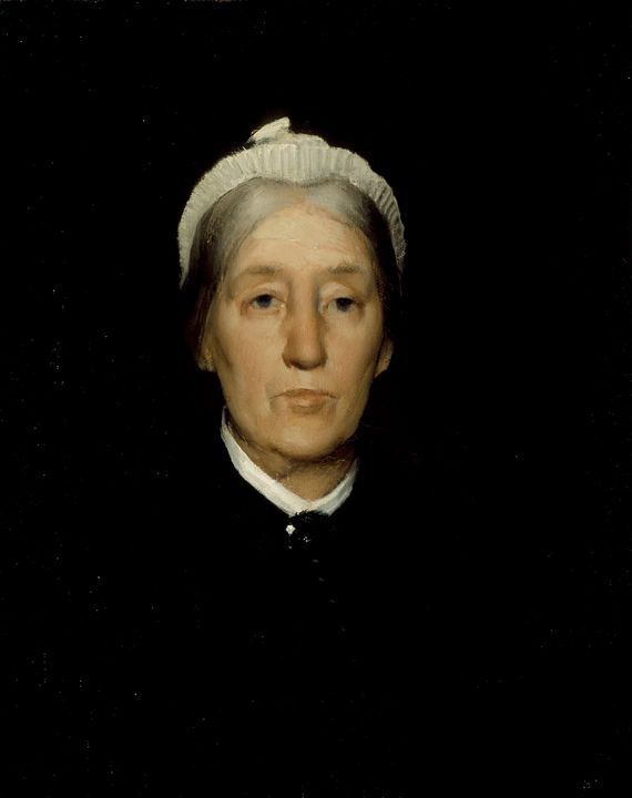 J. Alden Weir~Portrait of Mrs. Rober - Classical art