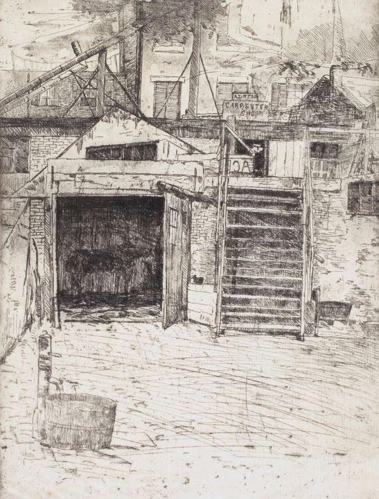 J. Alden Weir~The Carpenter's Shop - Classical art