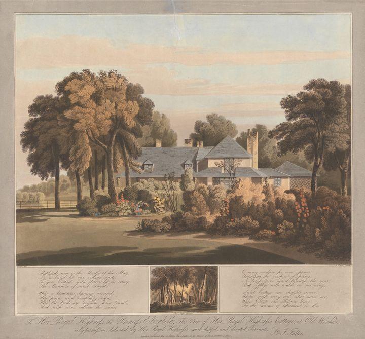 J. Clark~View of HRH the Princess El - Classical art