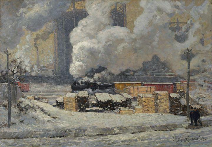 J. E. H. MacDonald~Tracks and Traffi - Classical art
