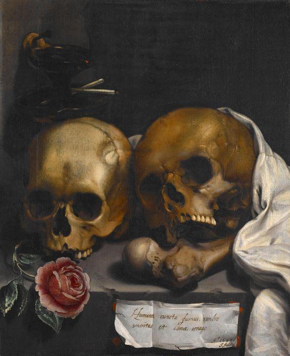 J. Falk (Dutch, 1600-1699)~Vanitas S - Classical art