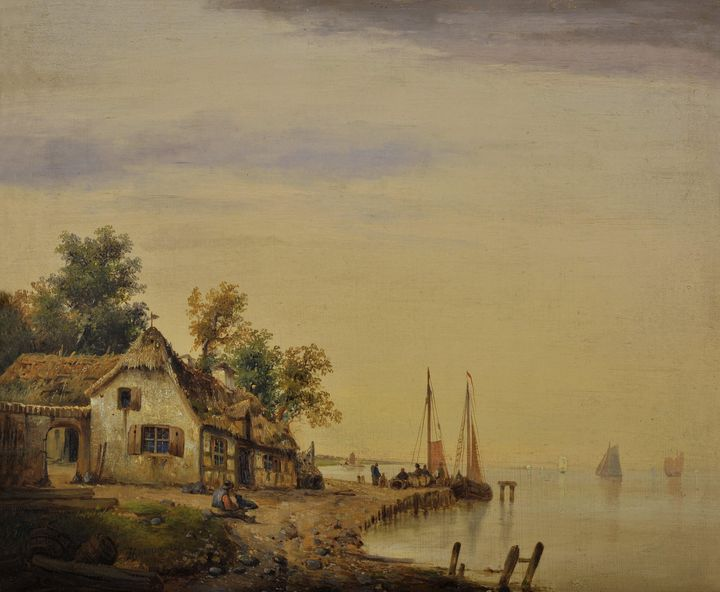 J. Herrmann~Coastline - Classical art