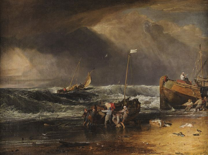 J. M. W. Turner~A Coast Scene with F - Classical art