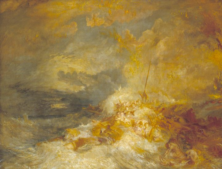 J. M. W. Turner~A Disaster at Sea - Classical art