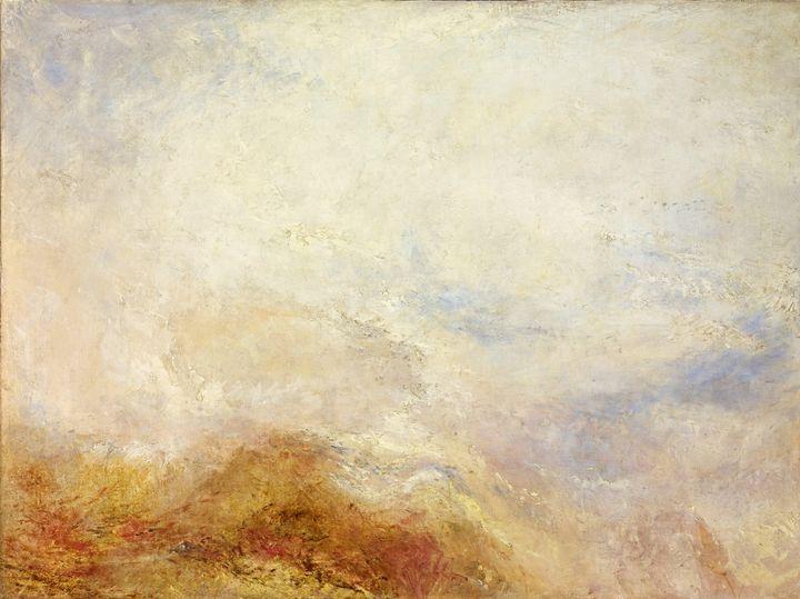 J. M. W. Turner~A mountain scene, Va - Classical art