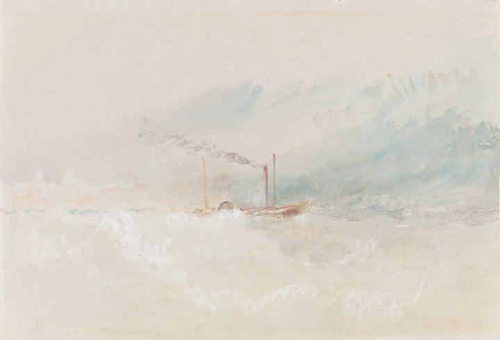 J. M. W. Turner~A Packet Boat off Do - Classical art