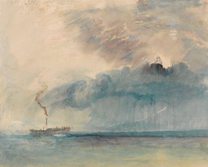 J. M. W. Turner~A Paddle-steamer in - Classical art