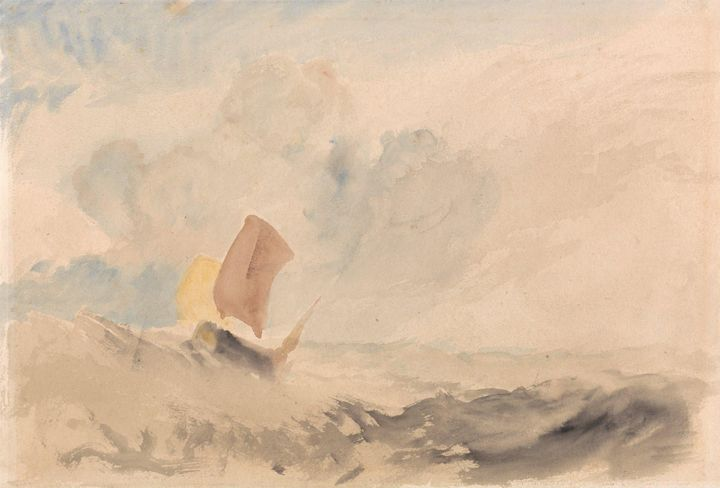 J. M. W. Turner~A Sea Piece - A Roug - Classical art