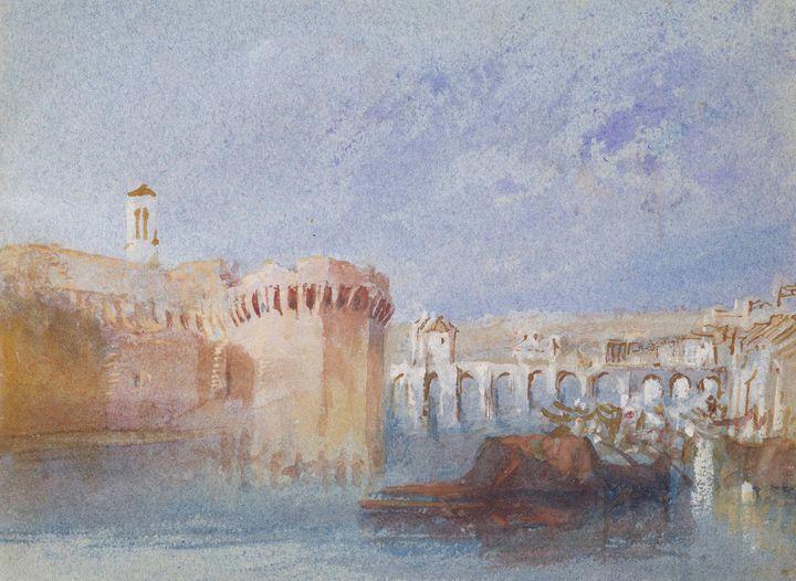 J. M. W. Turner~Angers The Walls of - Classical art