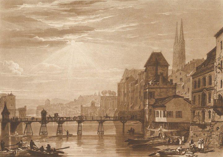 J. M. W. Turner~Basle (Liber Studior - Classical art