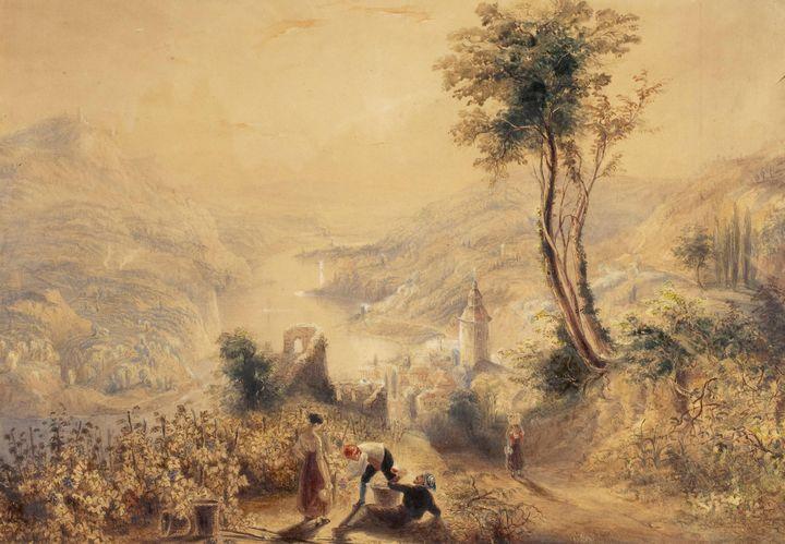 J. M. W. Turner~Berncastle (Oberwese - Classical art