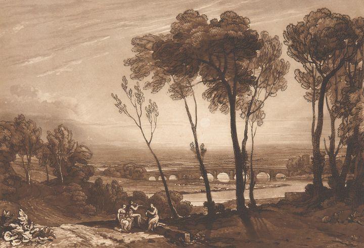J. M. W. Turner~Bridge in the Middle - Classical art