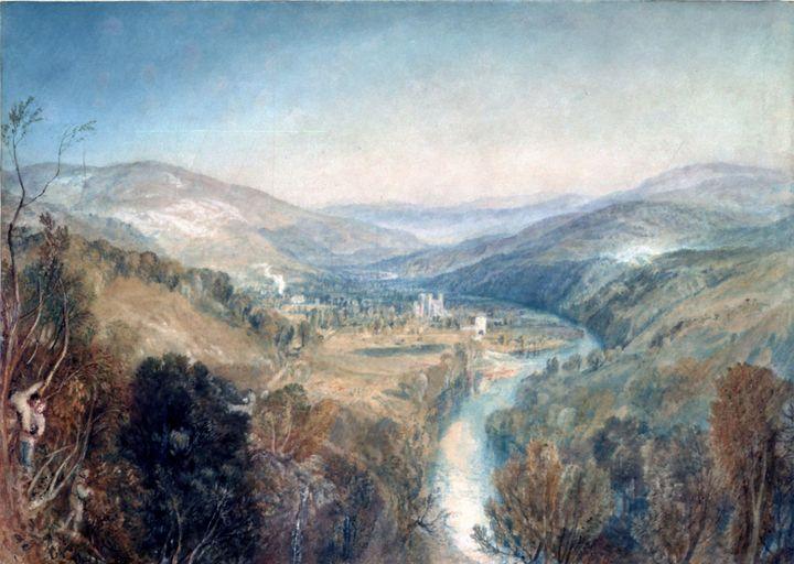 J. M. W. Turner~Buckfastleigh Abbey, - Classical art