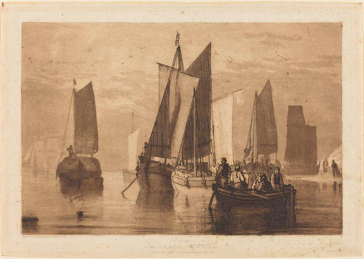 J. M. W. Turner~Calm - Classical art