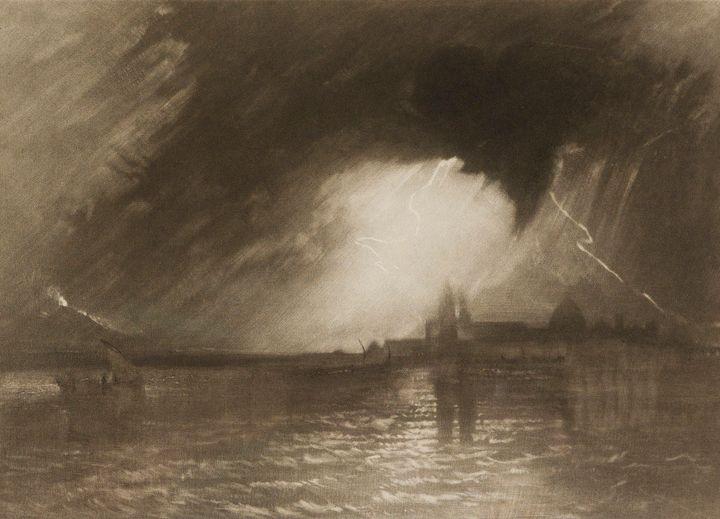 J. M. W. Turner~Catania, Sicily - Classical art
