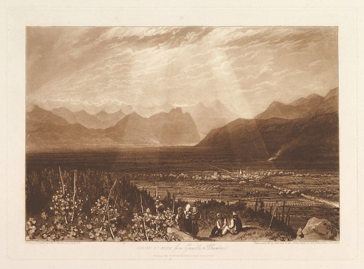 J. M. W. Turner~Chain of Alps from G - Classical art