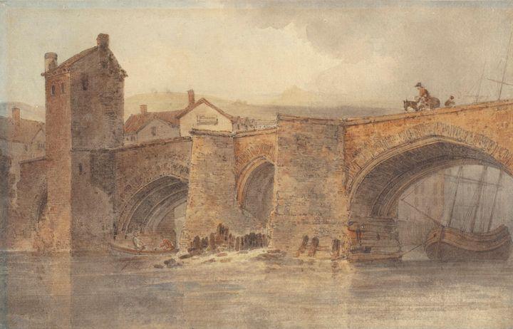 J. M. W. Turner~Chester Bridge - Classical art