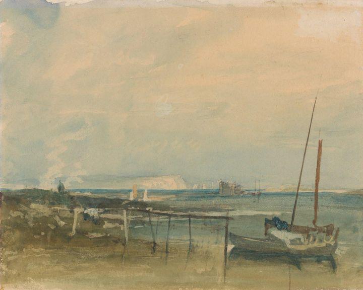 J. M. W. Turner~Coast Scene with Whi - Classical art