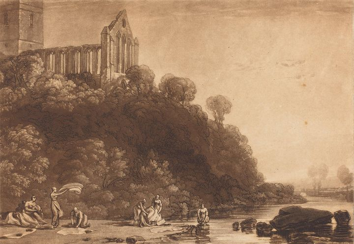 J. M. W. Turner~Dumblain Abbey - Classical art
