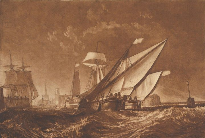 J. M. W. Turner~Entrance of Calais H - Classical art