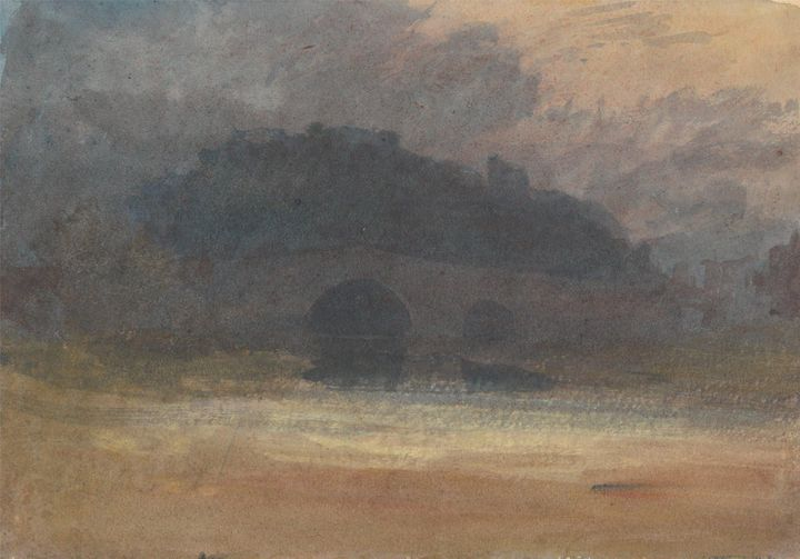 J. M. W. Turner~Evening Landscape wi - Classical art