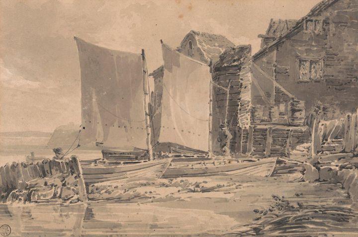 J. M. W. Turner~Fisherman's Cottage, - Classical art